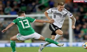 Germany beat Northern Ireland Cross runig the ball UEFA Euro selection