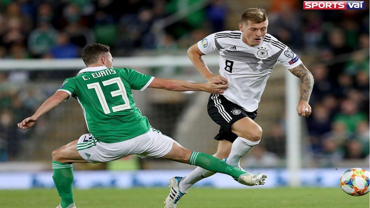 Germany beat Northern Ireland Cross runig the ball UEFA Euro selection